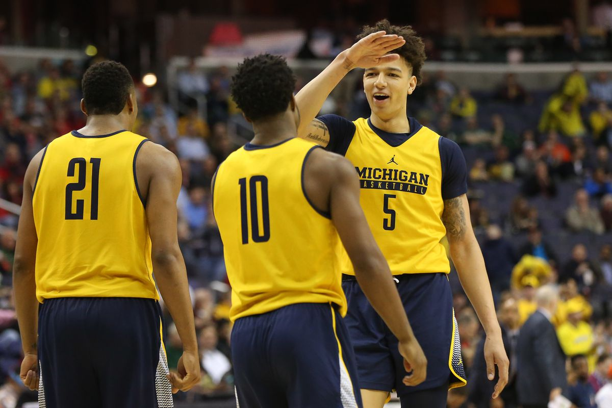 Michigan basketball played in practice uniforms after itsMichigan Basketball