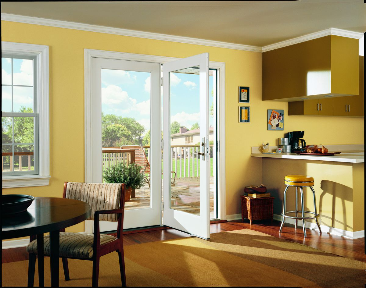 Center-Hinged In-Swinging Exterior French Doors