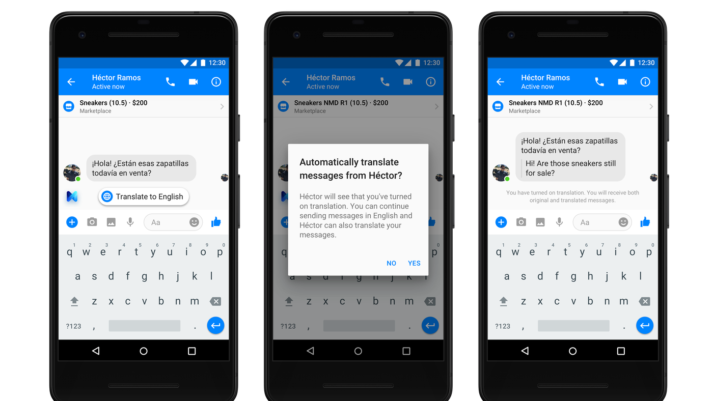 Facebook Messenger Can Now Translate Between Spanish And English The Verge