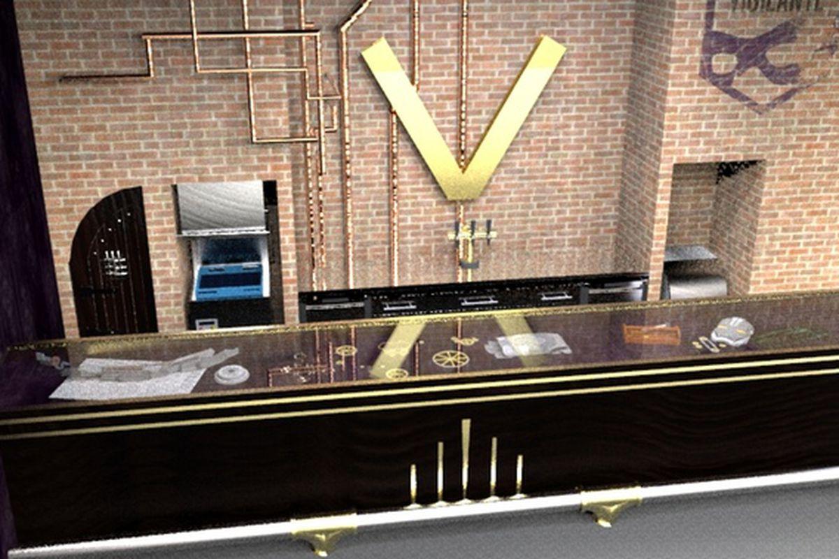 Rendering of Vigilante's bar