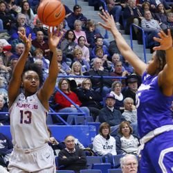 The Seton Hall Pirates take on the UConn Huskies in a women's college basketball game at the XL Center in Hartford, CT on December 8, 2018.