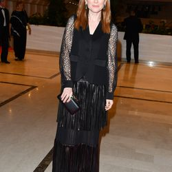 Julianne Moore in a Sonia Rykiel skirt at the Cannes opening dinner.