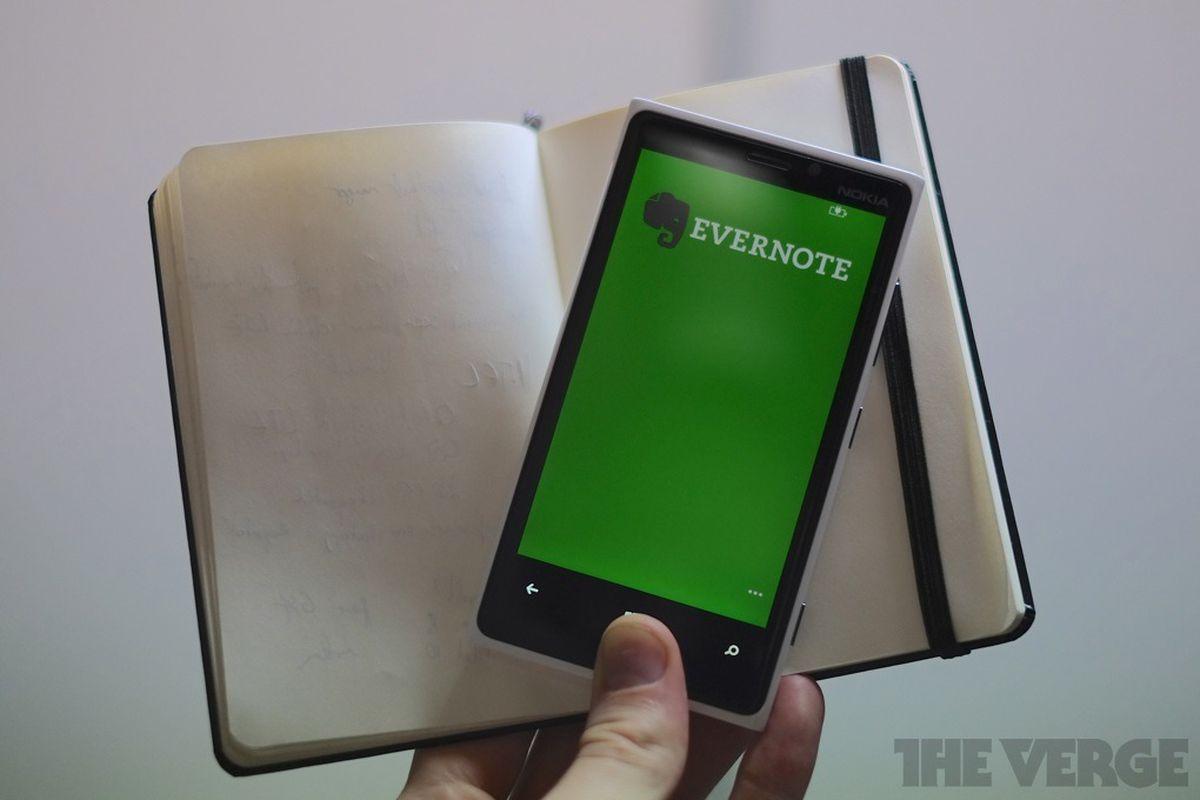 evernote note notetaking notebook lumia 920 nokia app