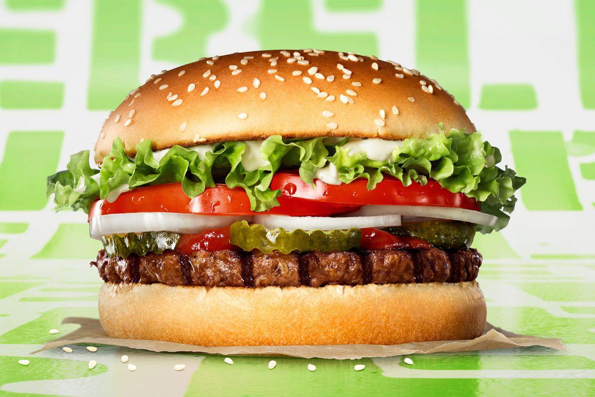 Burger King's Rebel Whopper vegetarian burger, which is not fake meat or vegan