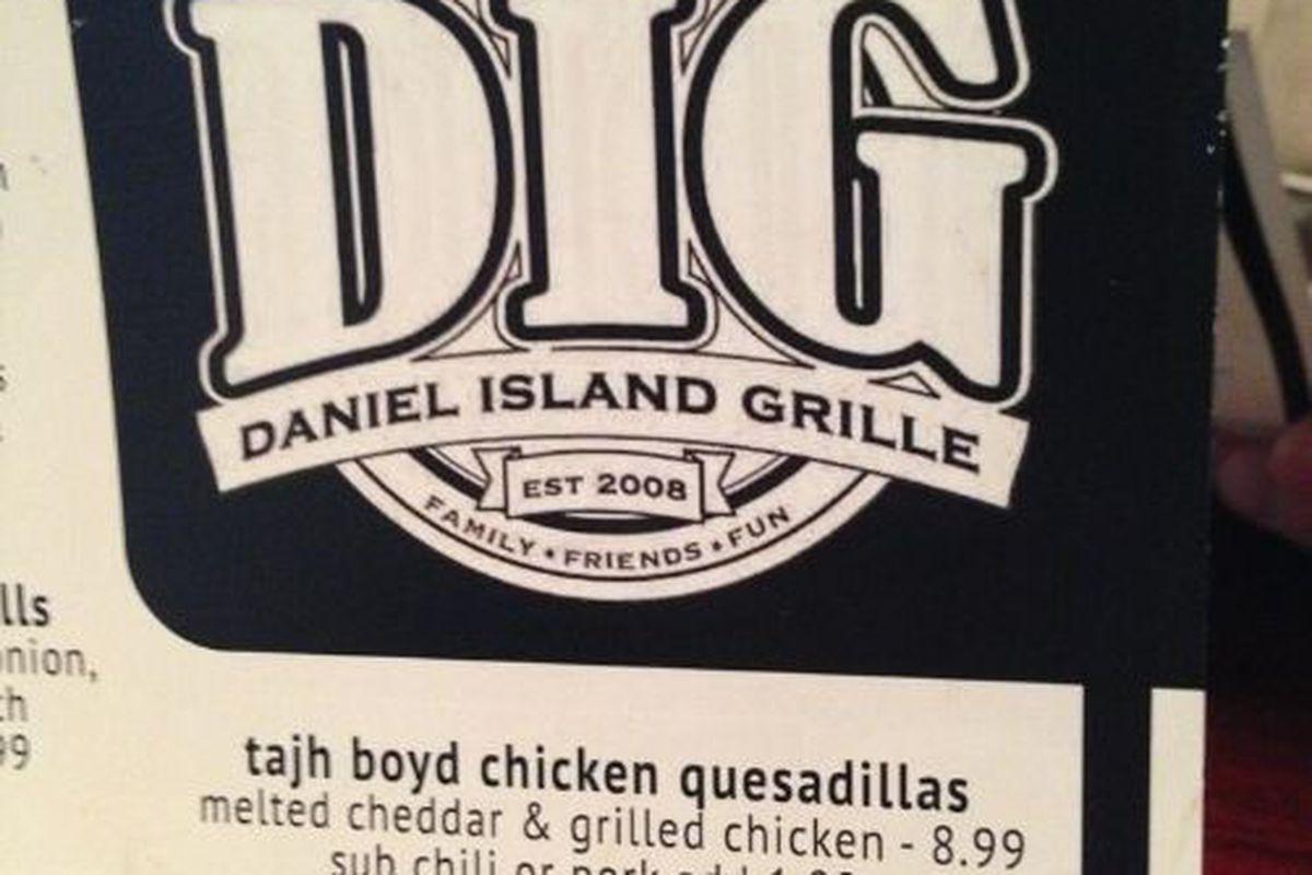 Daniel Island Grille's offending menu item.