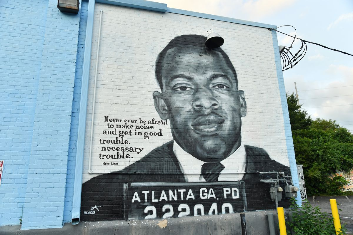 From Marquees To Murals, Rep. John Lewis Honored Across Atlanta