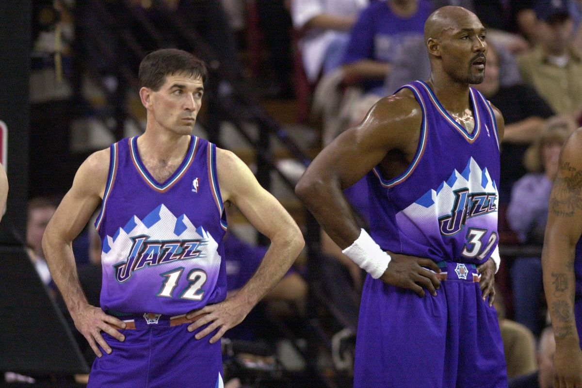 The Last Dance': Utah Jazz arrive with Karl Malone, John Stockton ...