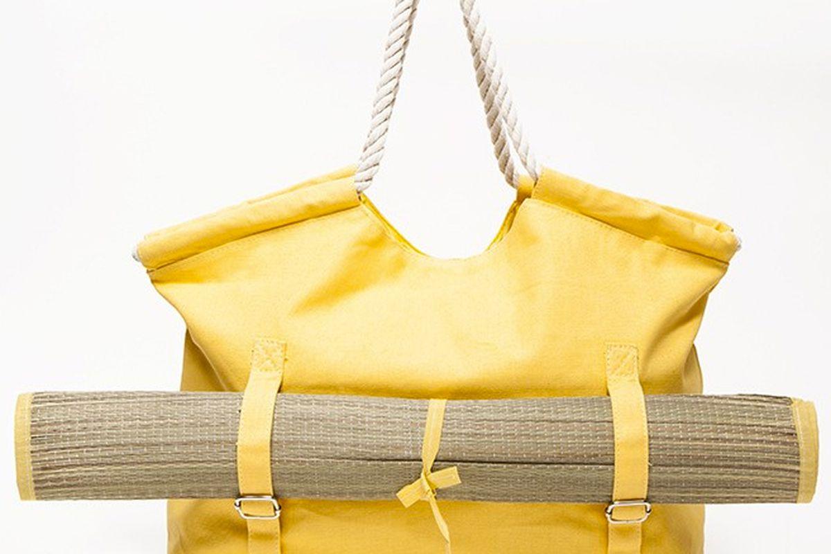 """Beach tote with mat, <a href=""""http://needsupply.com/womens/new/beach-tote-with-mat-1.html"""">$110</a> at NeedSupply.com"""