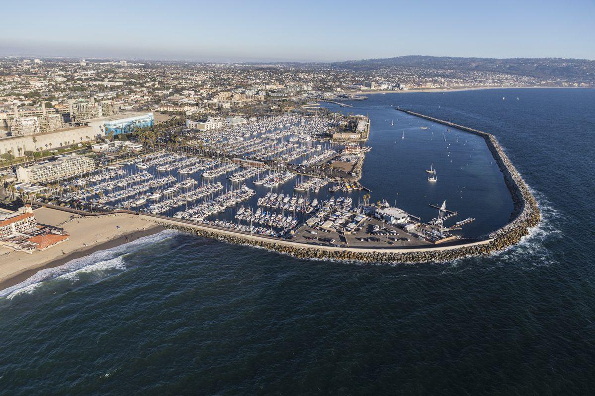 Aerial view of Redondo Beach