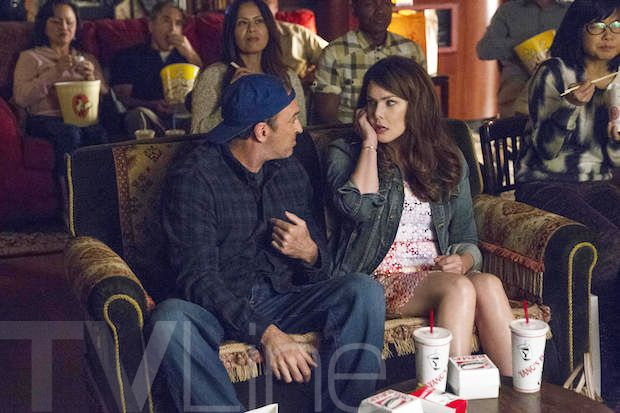 Scoop: At some point, Luke and Lorelai go to the movies.