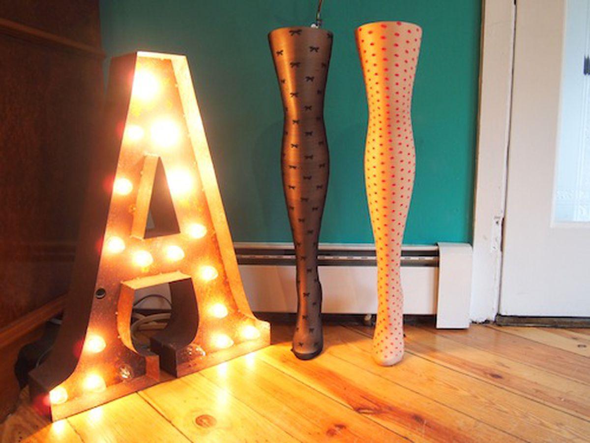 Dot- and bow-print Betsey Johnson tights at Aoki