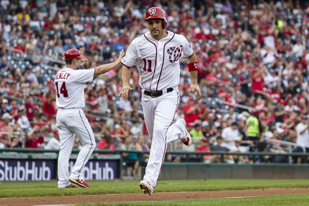 Washington Nationals clinch home field in NL Wild Card Game with 10-7 win over Cleveland Indians...