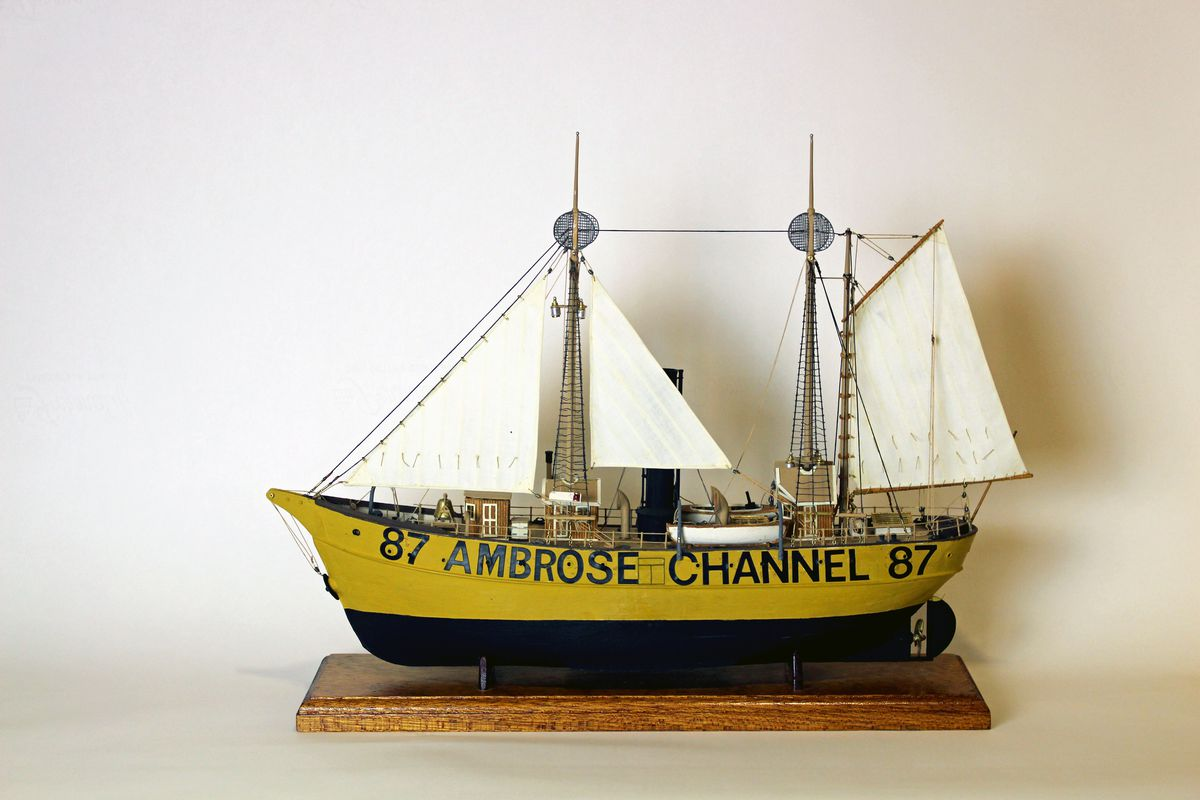 A Model Of The Lightship Ambrose Via South Street Seaport Museum Archives