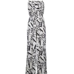 """Bamboo print jumpsuit, <a href=""""http://www.scoopnyc.com/bamboo-print-jumpsuit.html"""">Alice + Olivia</a>, $398"""