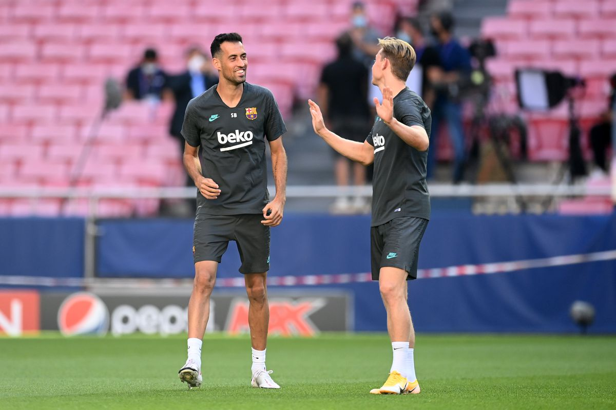 Barcelona Training Session - UEFA Champions League