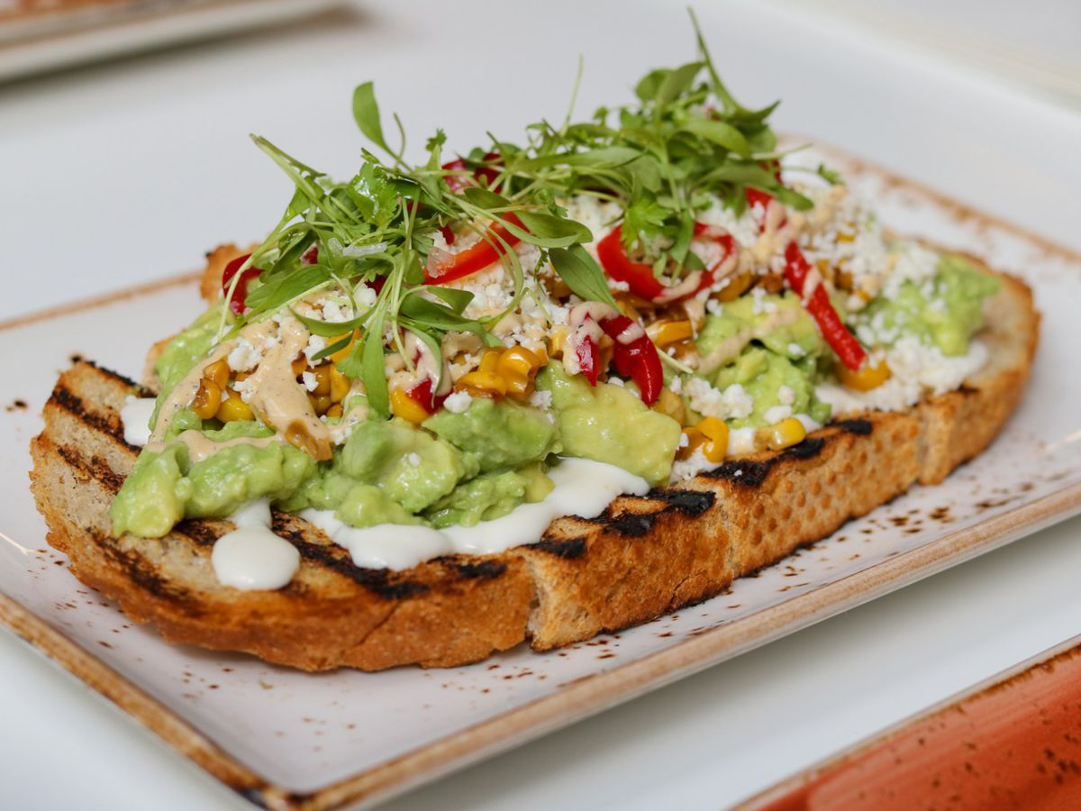 Mexican avocado toast at Bachour Bakery + Bistro