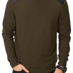 """<strong>21Men</strong> Favorite Sweatshirt in Dark Green, <a href=""""http://www.forever21.com/Product/Product.aspx?BR=21men&Category=m_hoodies&ProductID=2079584182&VariantID="""">$17.80</a>"""