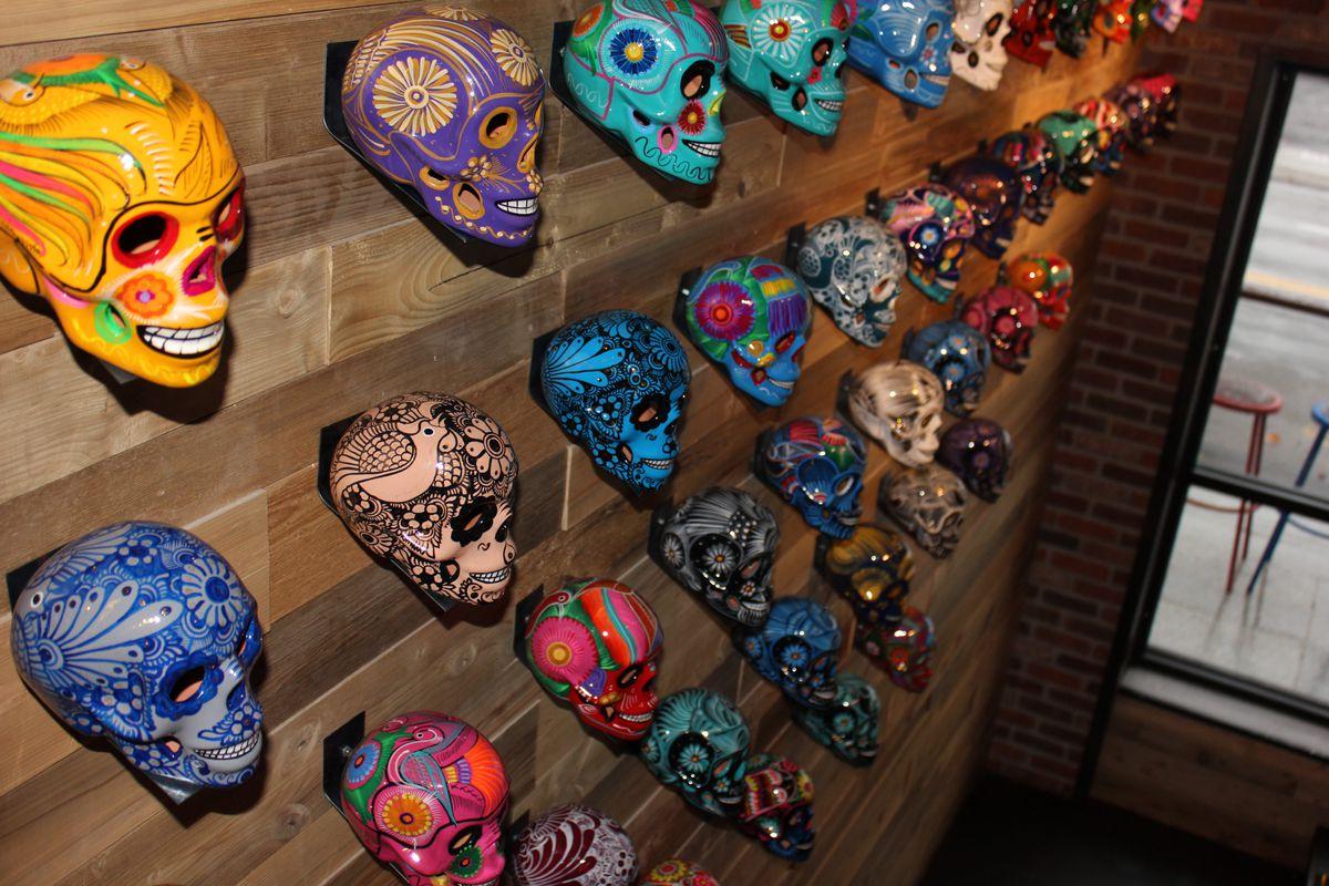 Painted skulls at Bandita Brighton