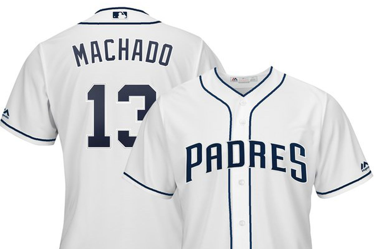 26a8766b0 Manny Machado signs with Padres: Here's what his new jersey looks ...