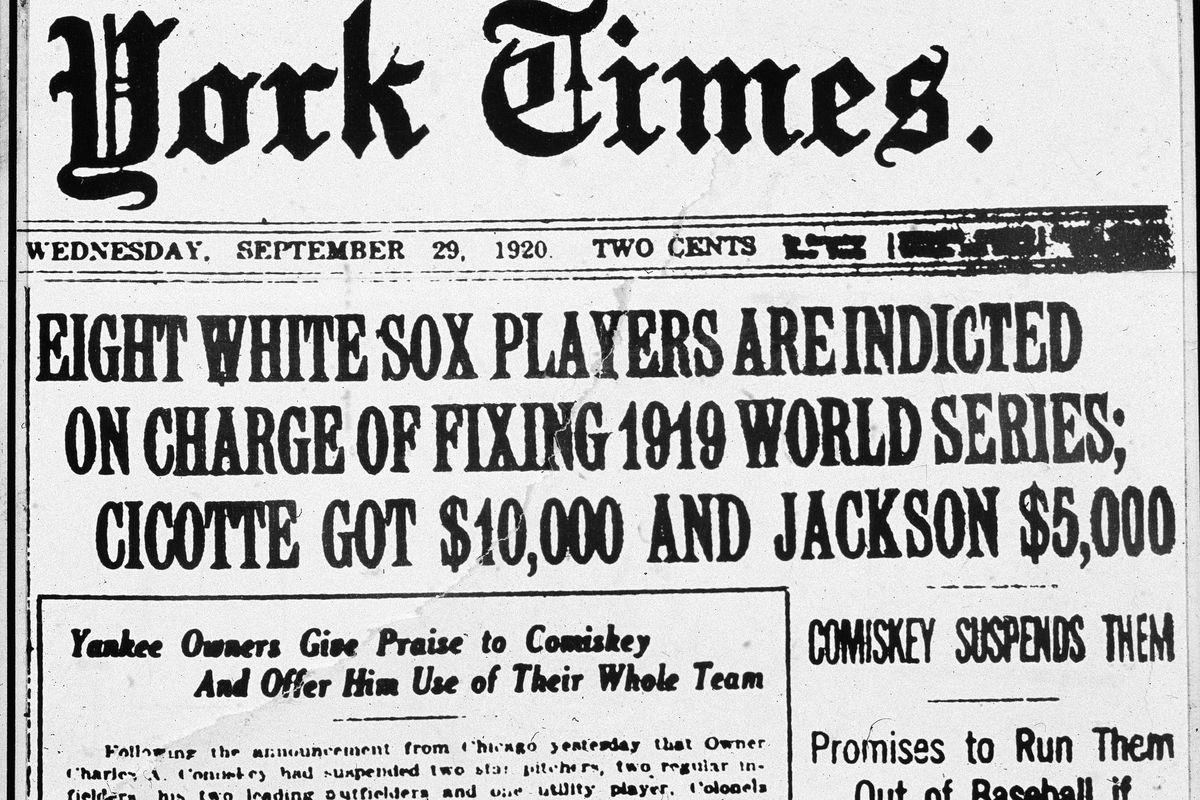 'Black Sox' Scandal Headline