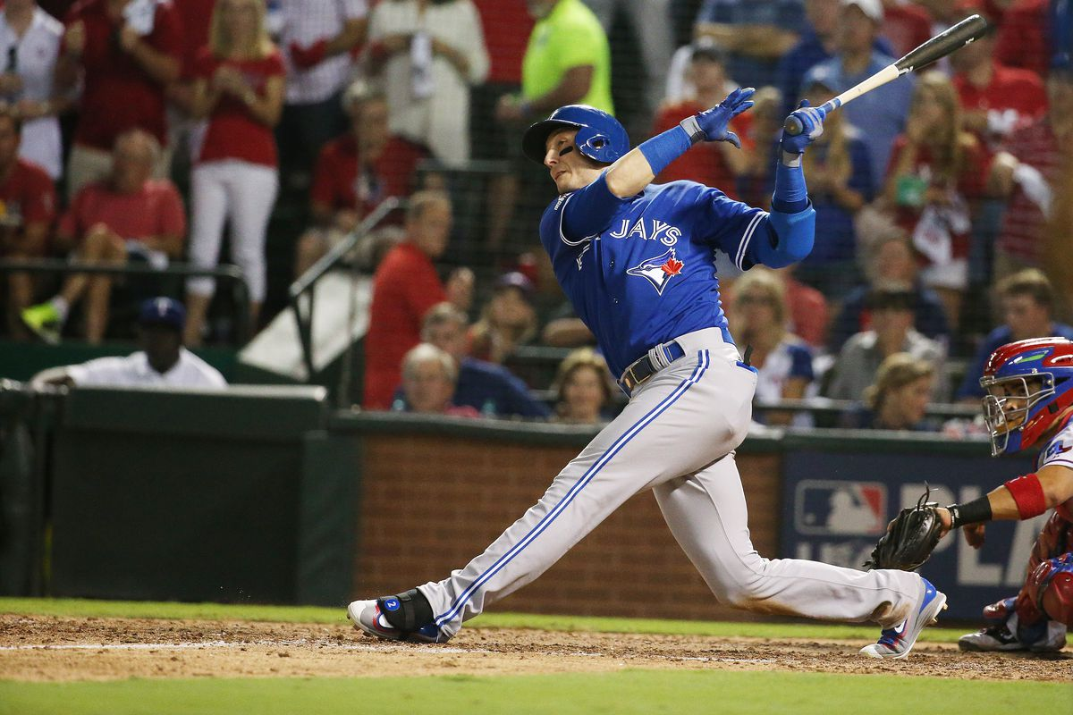 The Toronto Blue Jays and Texas Rangers play game three of the MLB American League Division Series