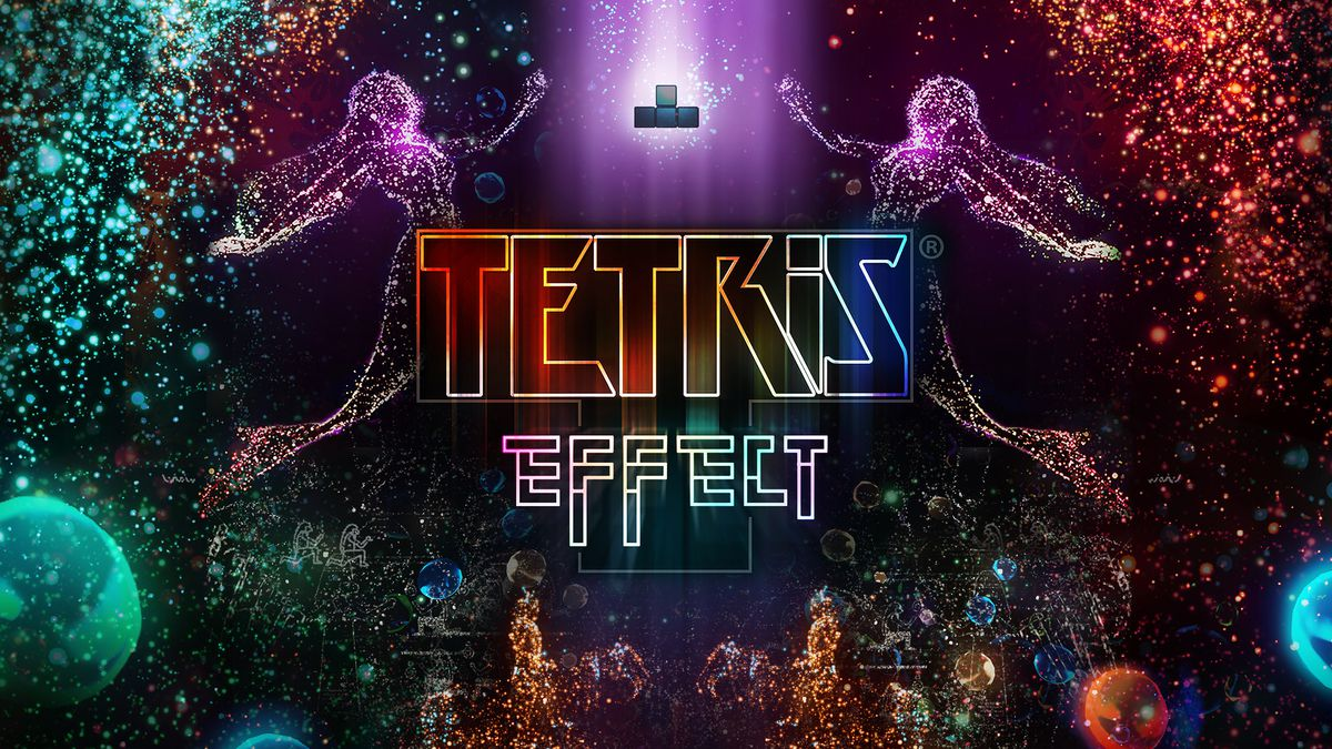 Tetris Effect artwork with the game's logo