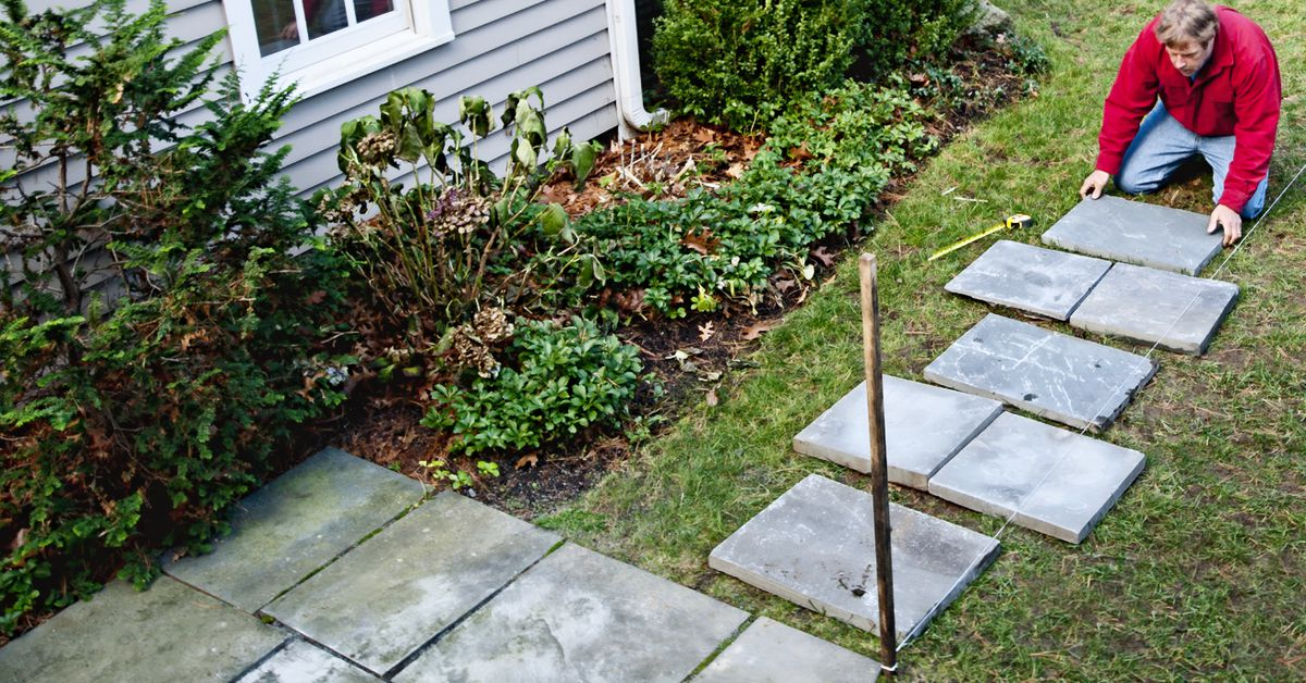 How To Lay A Stepping-Stone Path - This Old House