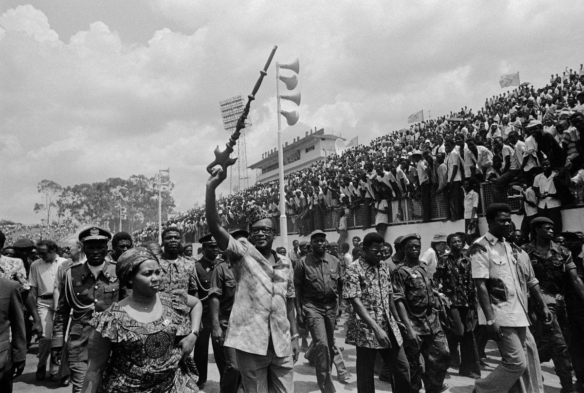 Zairian President Mobutu Sese Seko