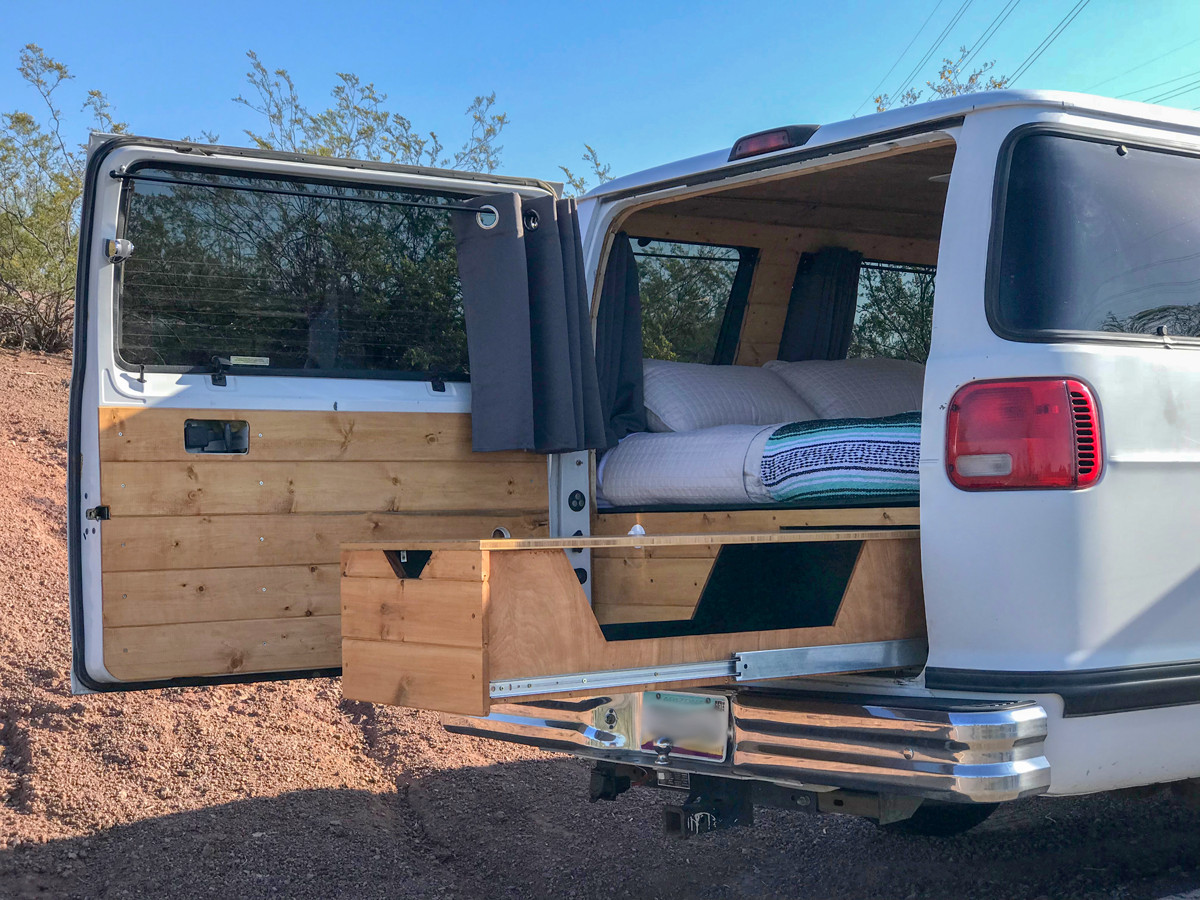Converted camper van with Boho-style is $35K - Curbed