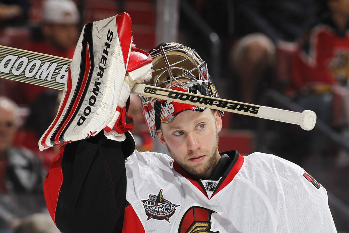 Craig Anderson will be back tonight. (Photo by Joel Auerbach/Getty Images)
