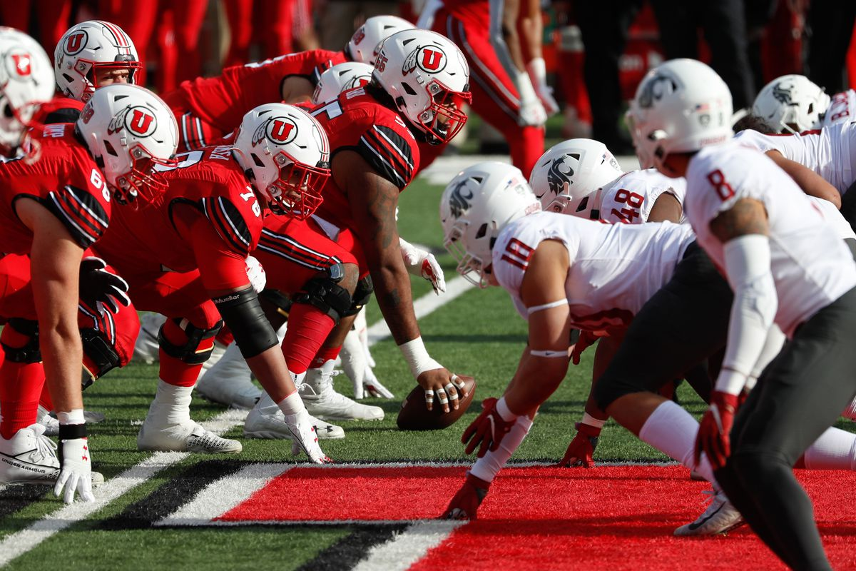 Utah Utes and Washington State Cougars plays during an NCAA football game at Rice-Eccles Stadium in Salt Lake City on Saturday, Dec. 19, 2020.