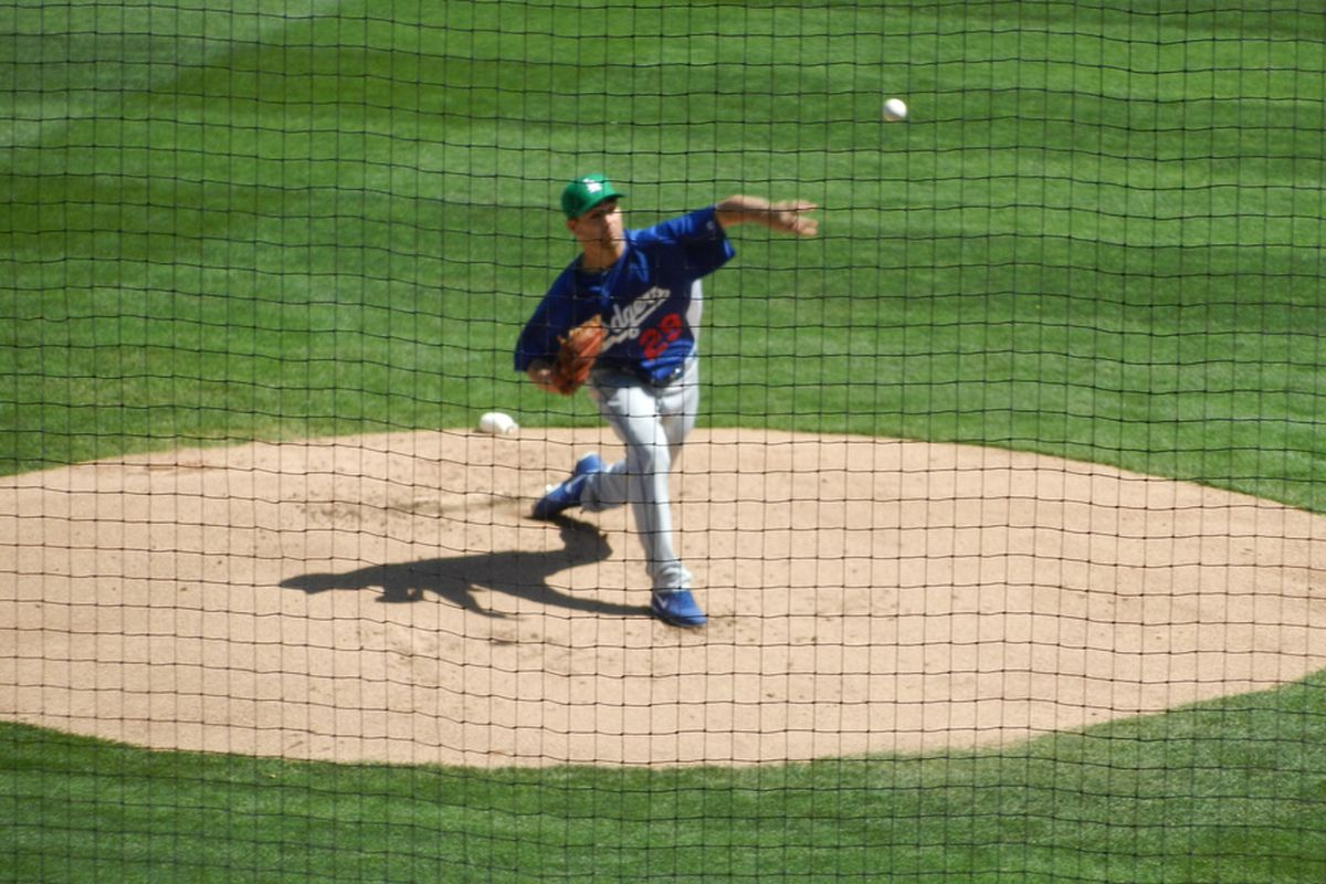 Ted Lilly offers an off-speed pitch