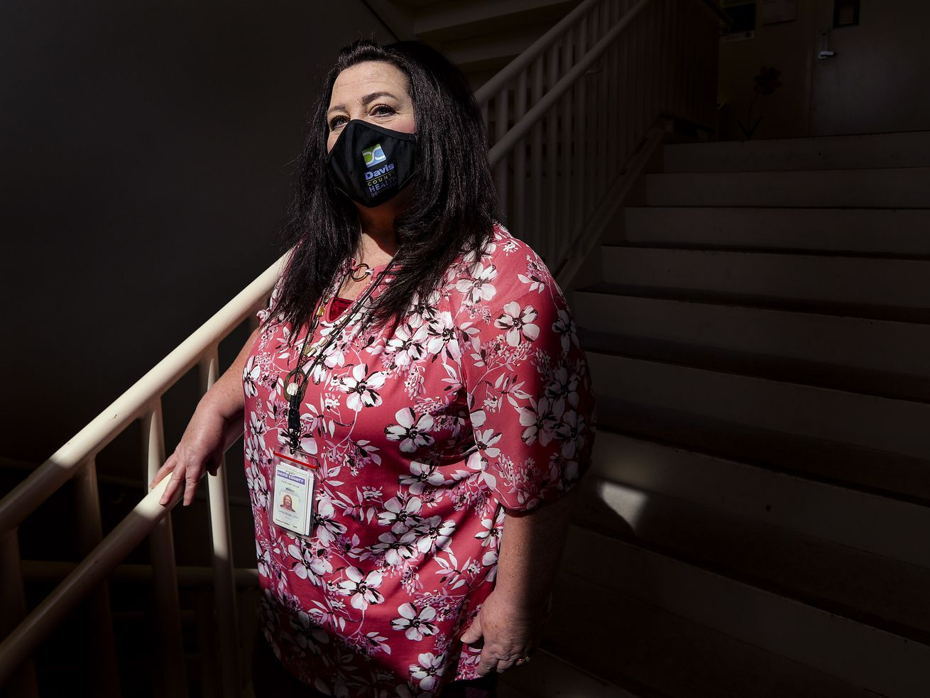 Wendy Garcia, division director for Family Health and Disease Control for the Davis County Health Department, poses for a photo at the health department officesin Clearfield on Friday, March 19, 2021.