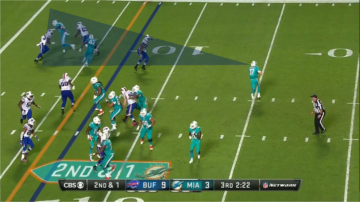 Tannehill to Gibson TD against Bills 4 graphics