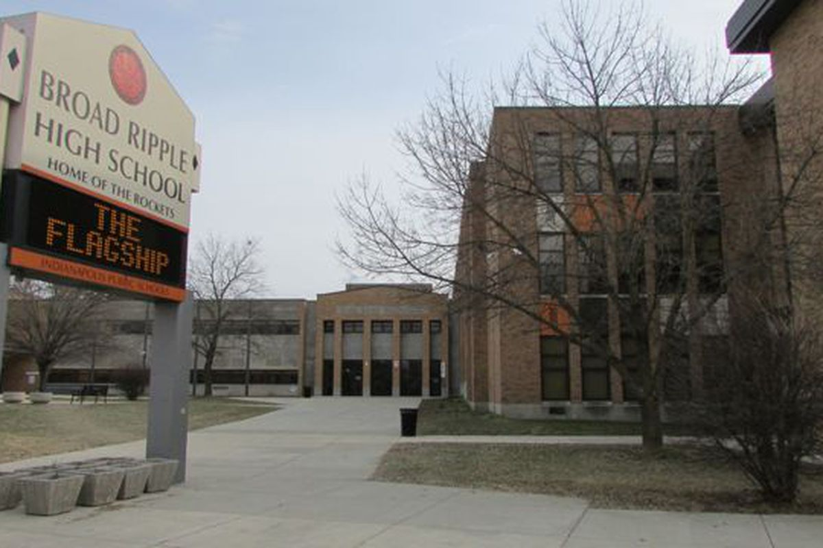 Broad Ripple high School has a divide between the test performance of its high school and middle school students.