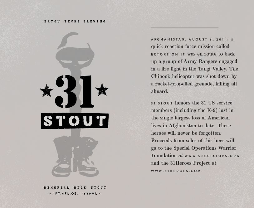 And the Valley Drinks: Bayou Teche's 31 Stout - And The Valley Shook