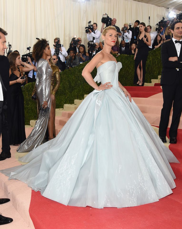 Claire Danes in Zac Posen at the Met Gala