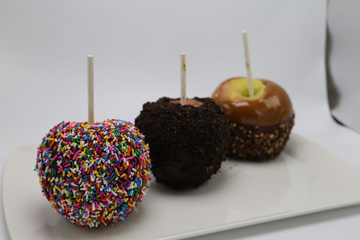 Brass Fork chocolate-covered apples