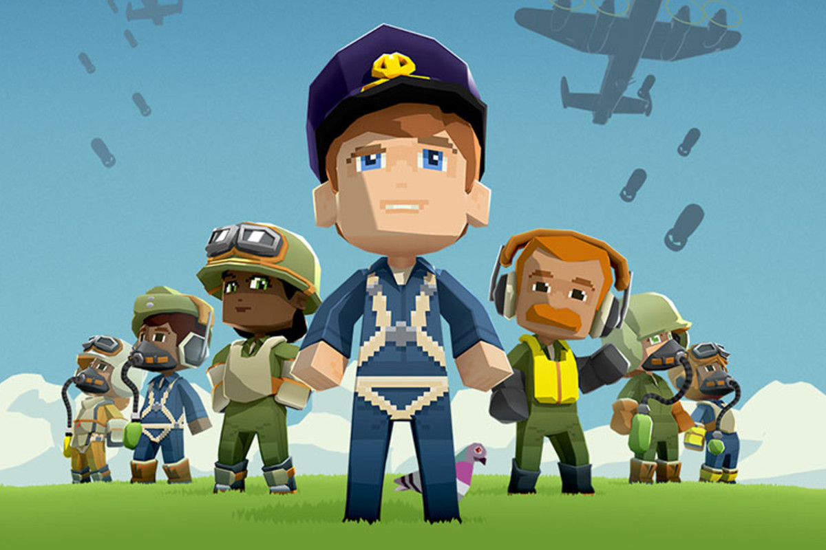 A captain and his crew stand at the ready in Bomber Crew.
