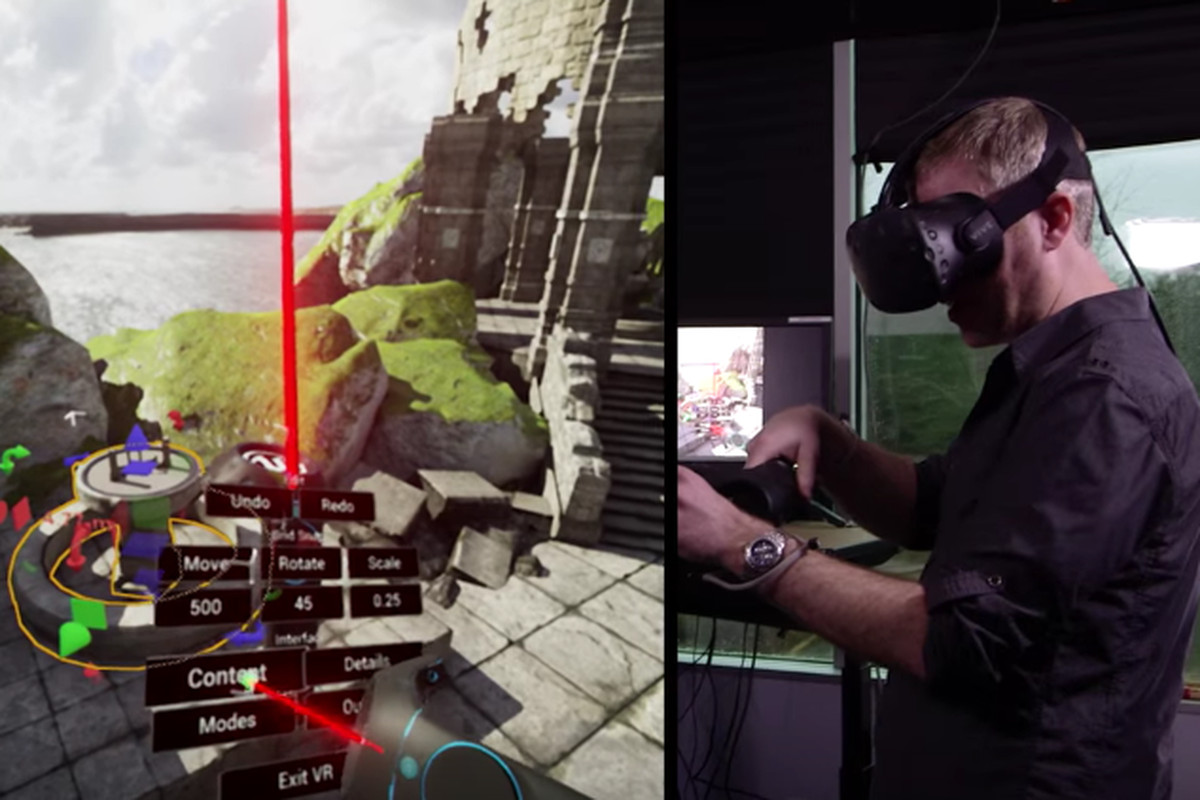 Start making VR games inside virtual reality right now with