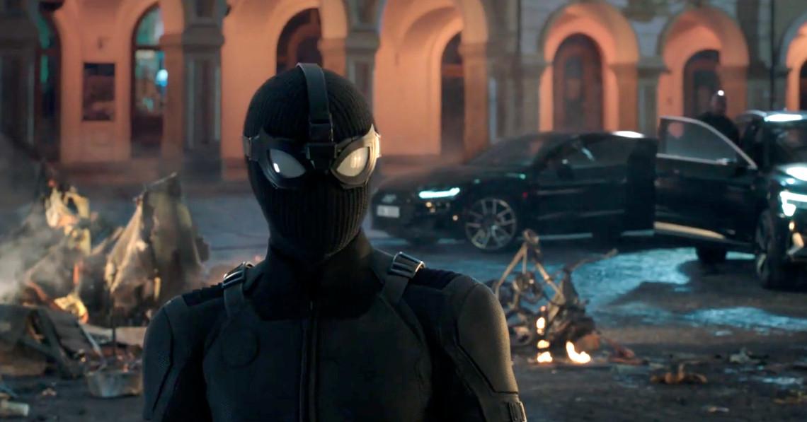 Spider-Man Far From Home Spiderman Costume Stealth Suit Spider Man Noir Jumpsuit