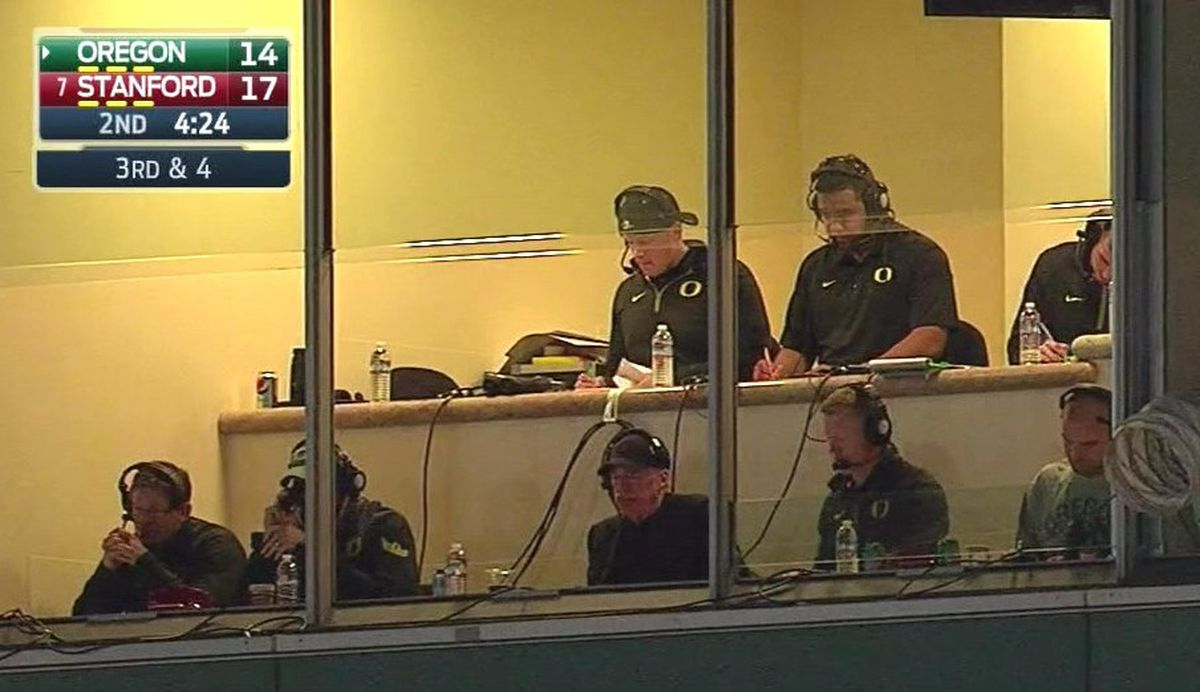It's no huge surprise that Knight has this sort of access to coaches. While  he denied having a headset in 2010 (