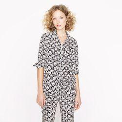 "<a href= ""http://www.jcrew.com/womens_category/sleepwear/PRDOVR~34283/99102891876/ENE~1+2+3+22+4294967294+20~0~~20+17~90~~~~~~~/34283.jsp"">Collection silk bow print pajama top</a>, $69.99"