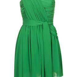 ONE SHOULDER CHIFFON DRESS, $170