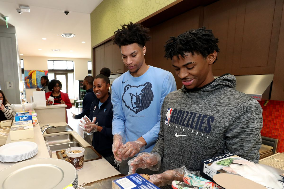 Grizzlies Full Team MLK Day of Service