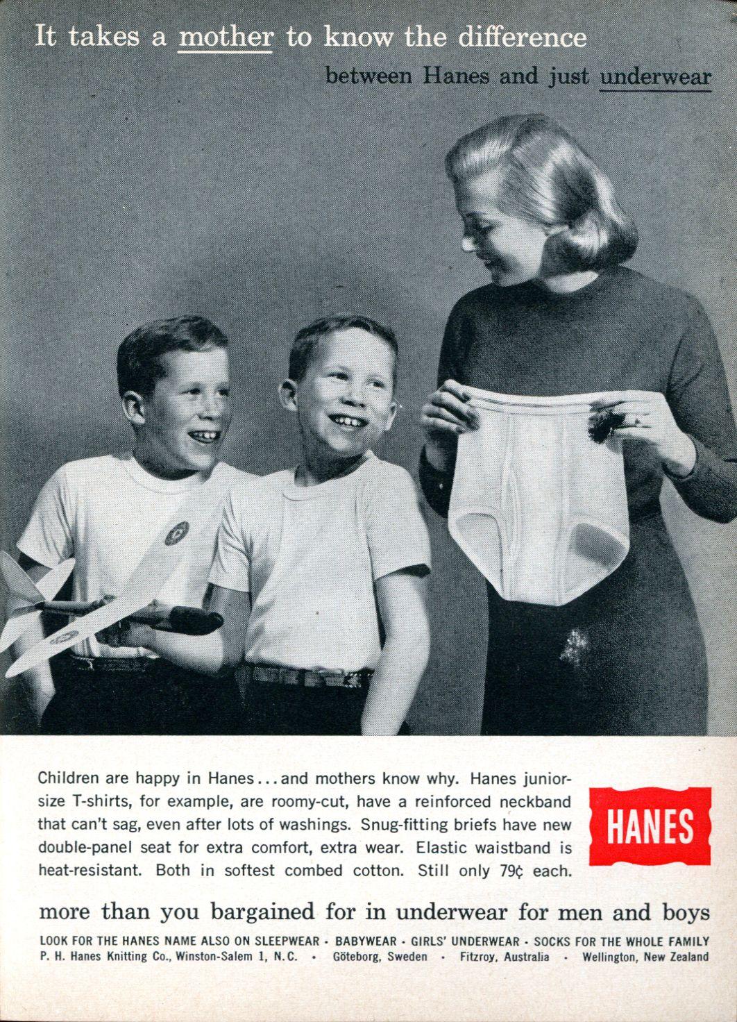 Hanes, 1960 ad.