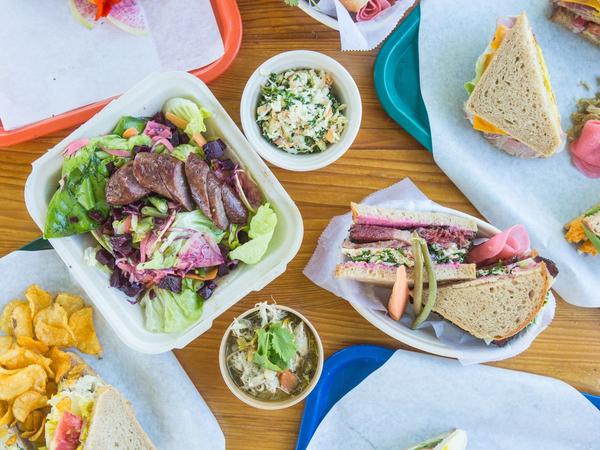 Sandwiches and salads from Mum Foods Deli