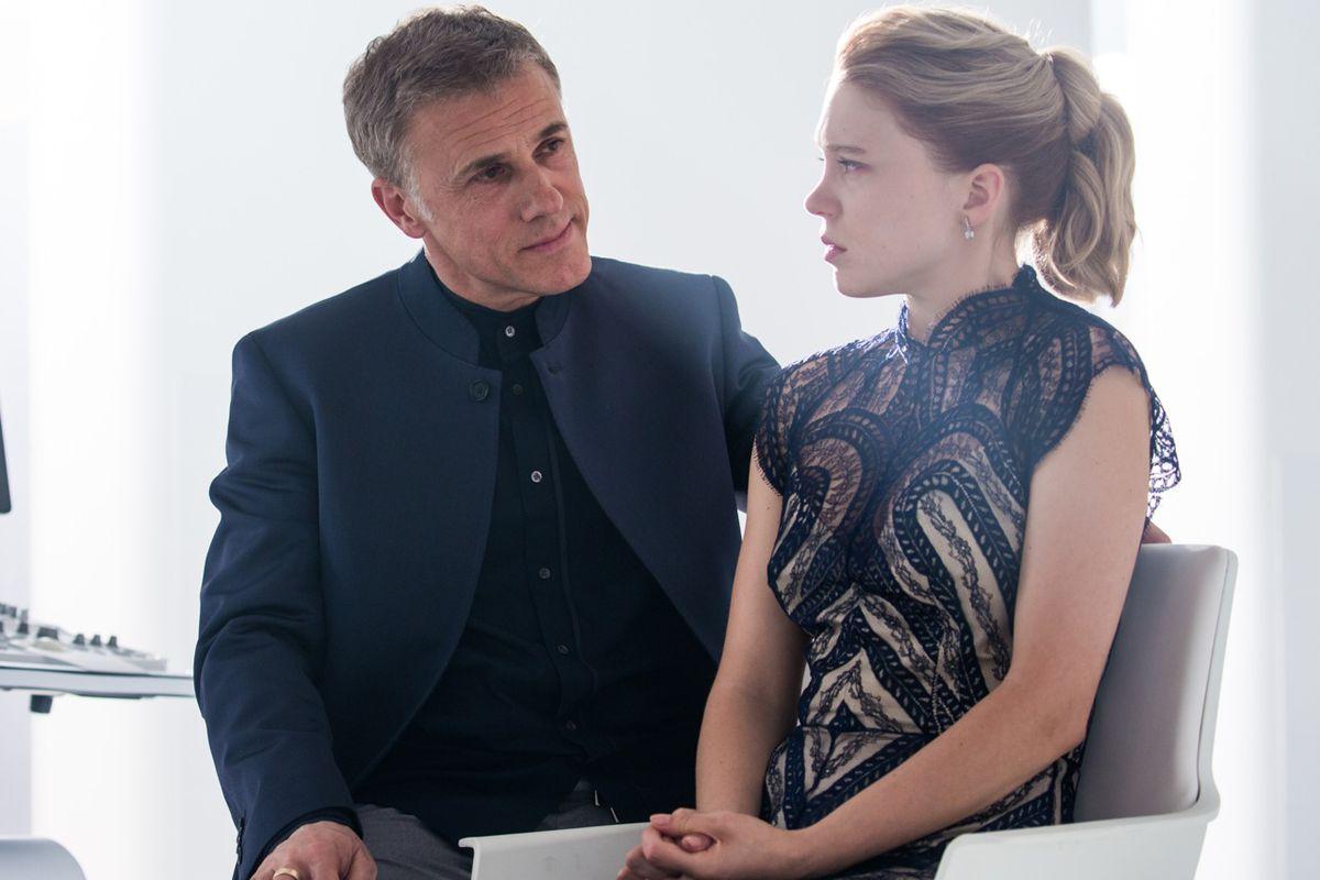 Lea Seydoux and Christopher Waltz in Spectre