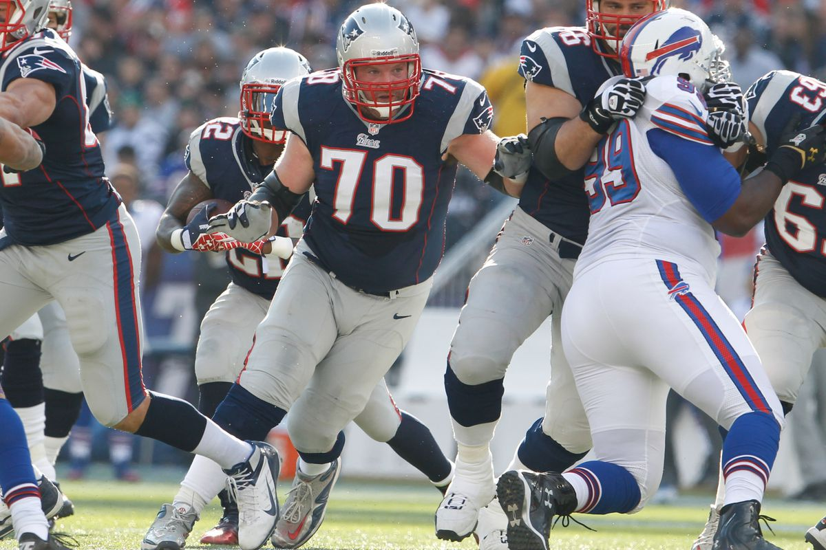 Logan Mankins jokes, 'We all live to play football in May.'