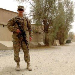 Senior Airman Austin Aitken serves in Kandahar Airfield, Afghanistan.